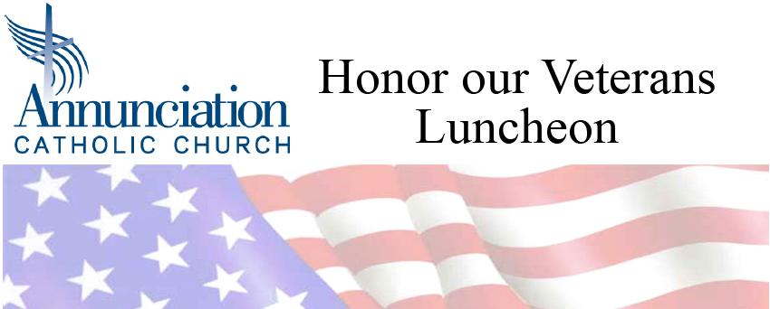 veterans luncheon banner