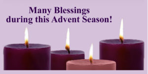 Advent Schedule and Reconciliation Times